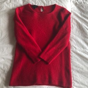 Talbots red cashmere sweater